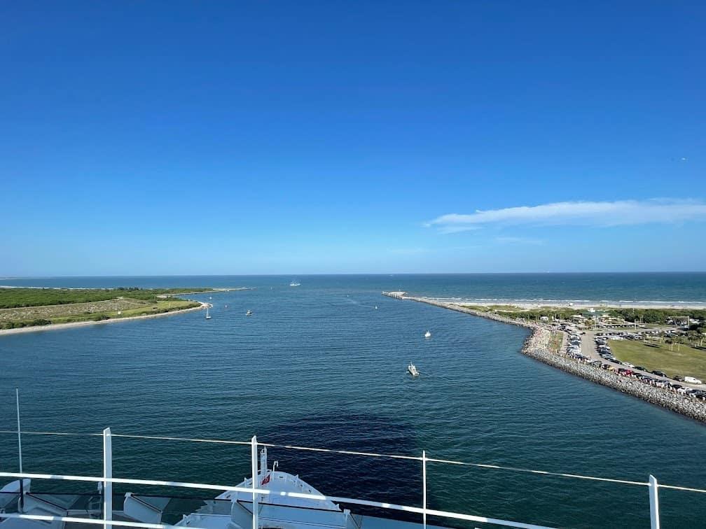 Mardi Gras Maiden voyage sail away