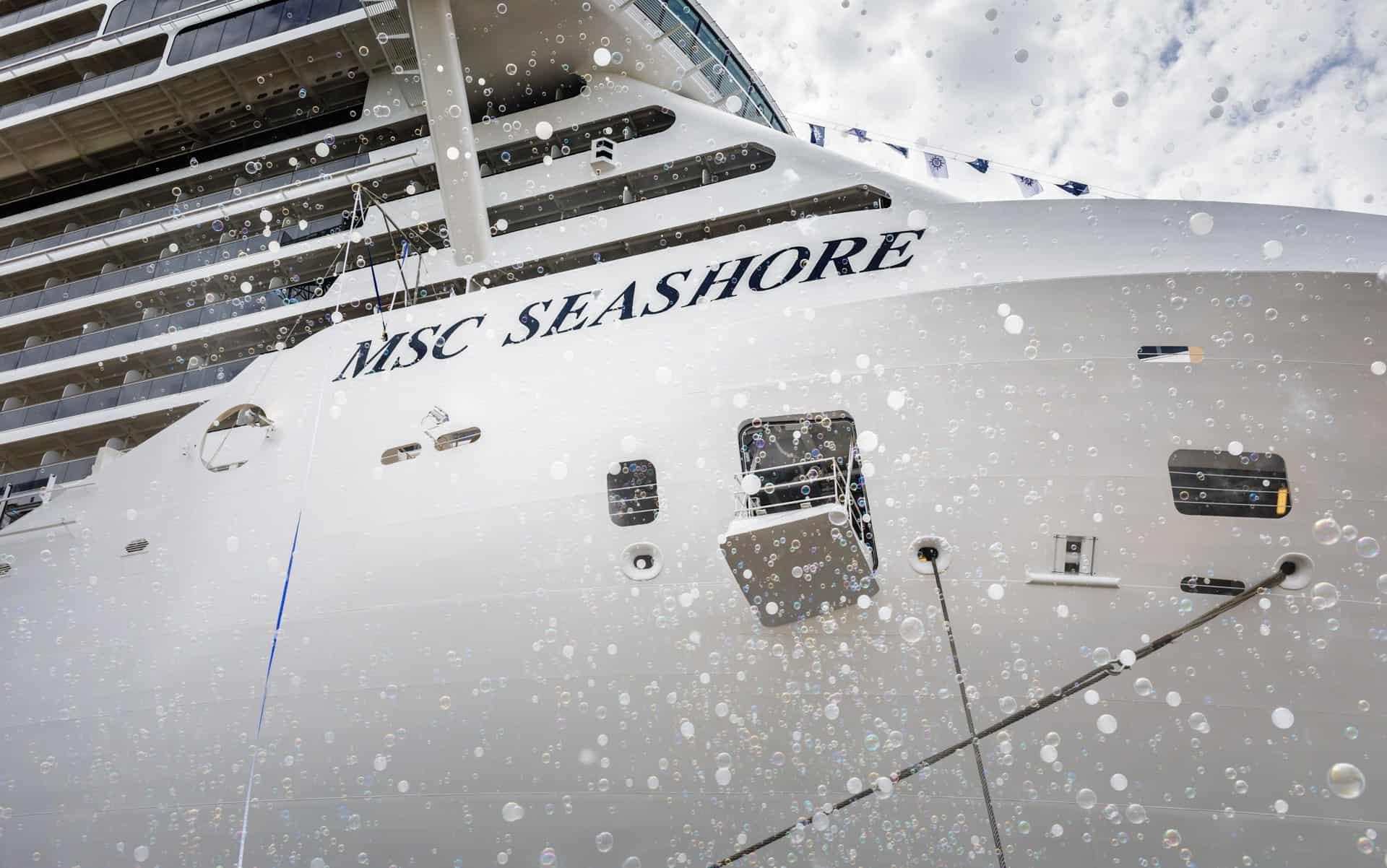 msc seashore delivery