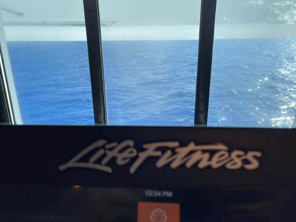 Mardi Gras Maiden Voyage view from gym