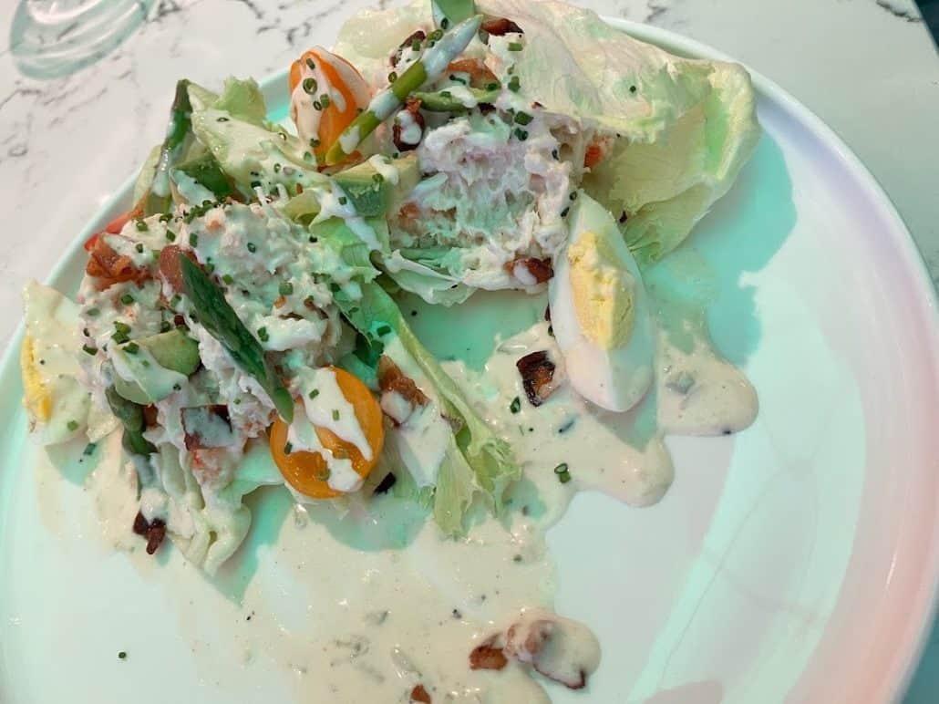 Mardi Gras Maiden Voyage Emeril's crab louie salad