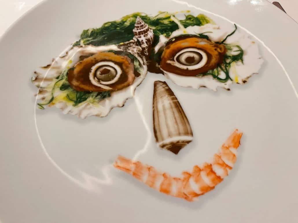 Mardi Gras Maiden Voyage Rudi's Seagrill plate