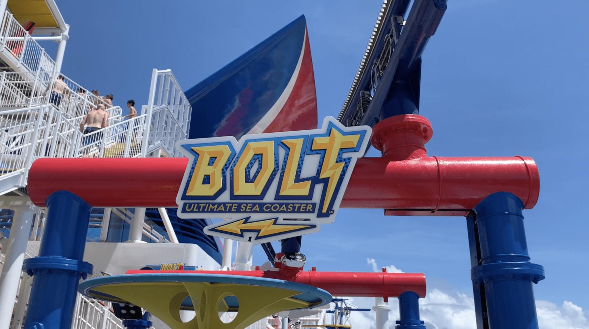 bolt roller coaster sign mardi gras