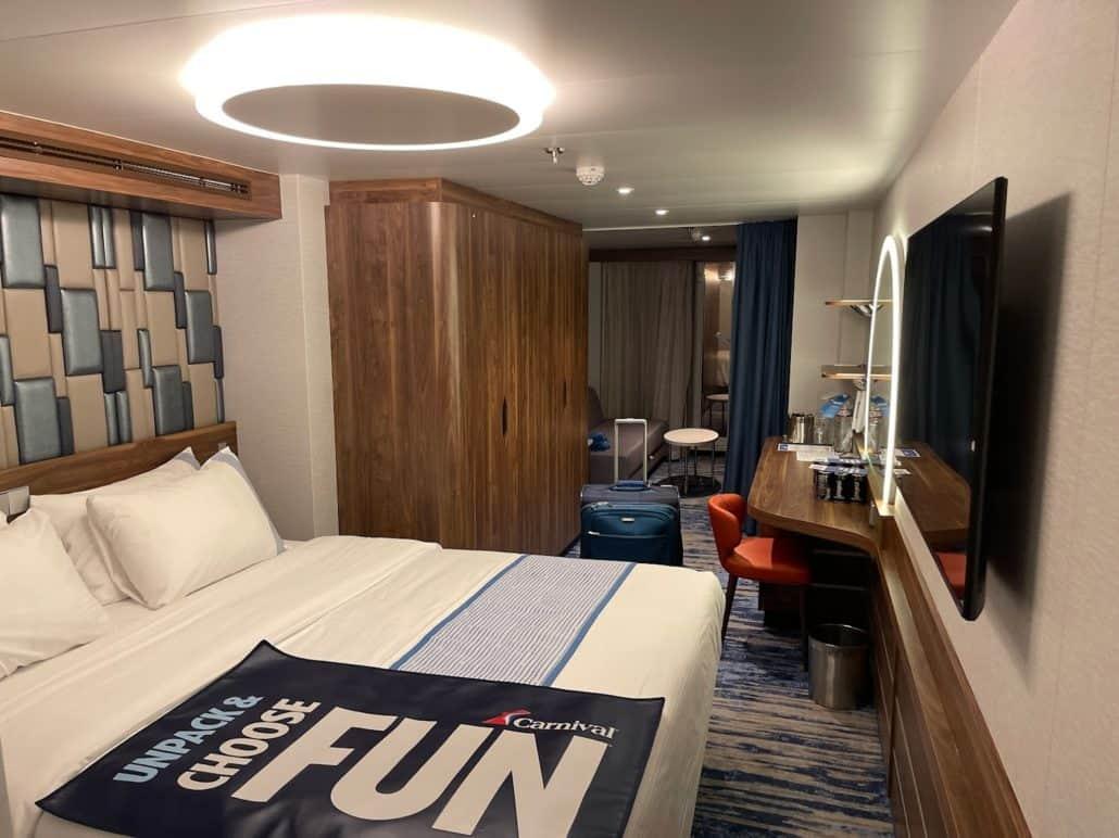 Mardi Gras Maiden Voyage ocean suite