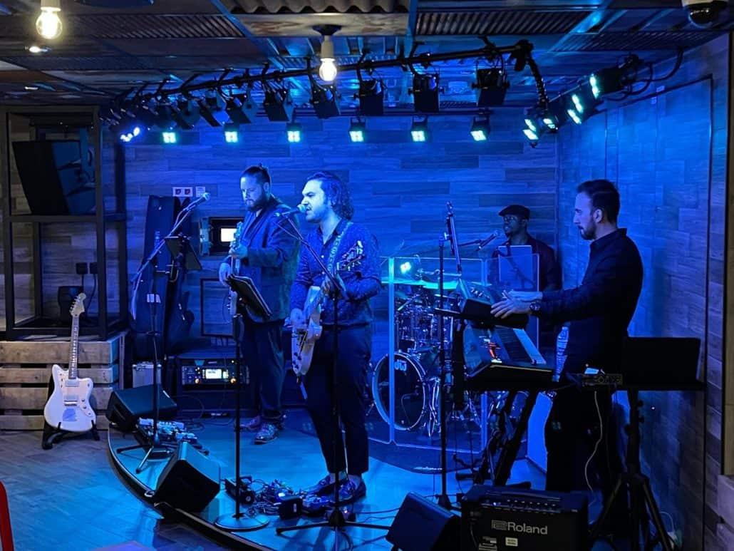 Mardi Gras Maiden Voyage band at Guy's Smokehouse
