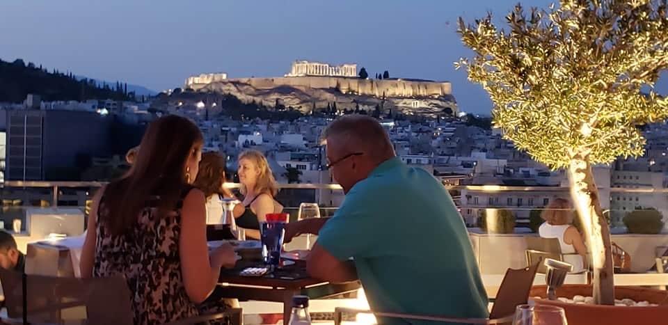 athens greece acropolis dining