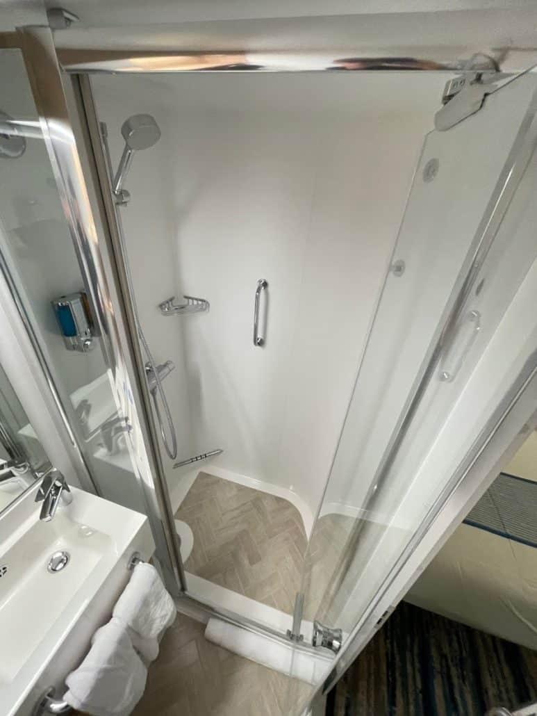 Mardi Gras Maiden Voyage interior room shower