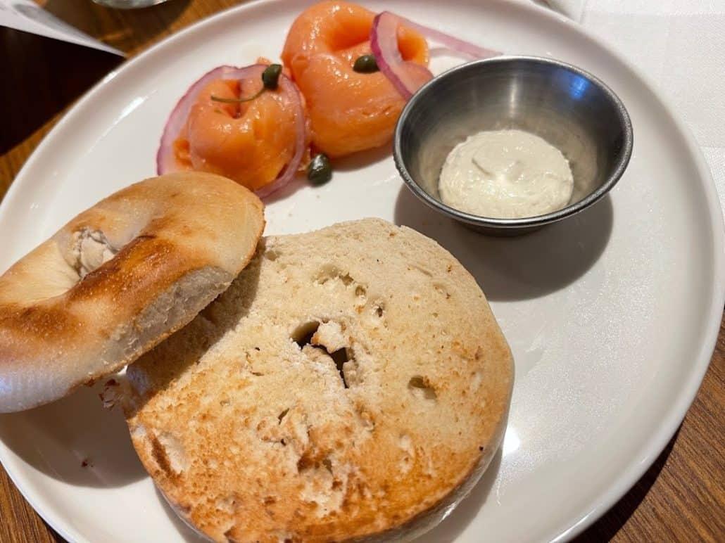Mardi Gras Maiden Voyage view from gym breakfast in Cucina