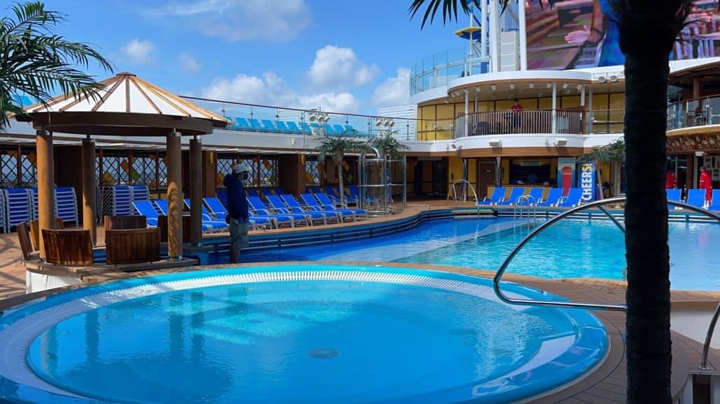 Mardi Gras Maiden Voyage lido deck pool