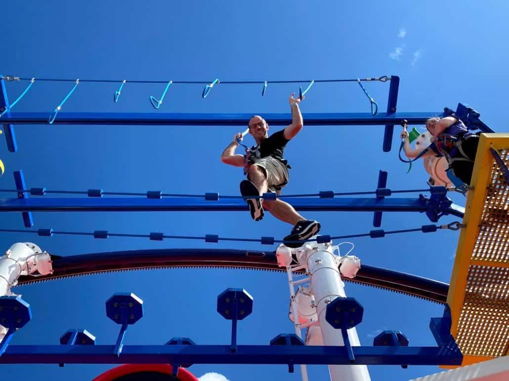 Mardi Gras Trip Report ropes course