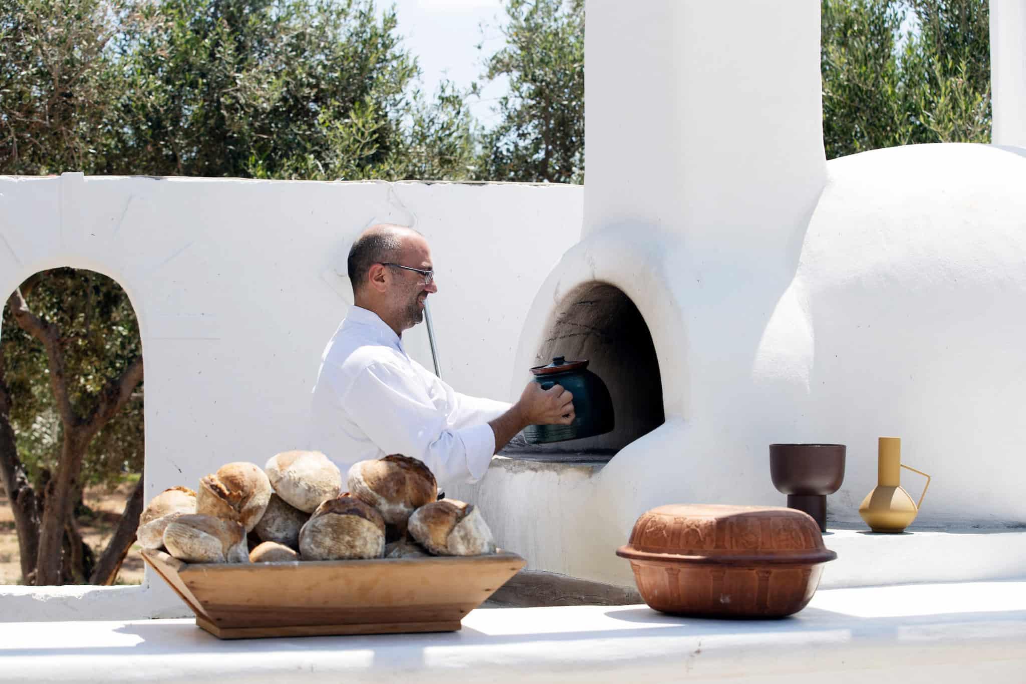 Bread making in Paros Greece, SALT Excursion