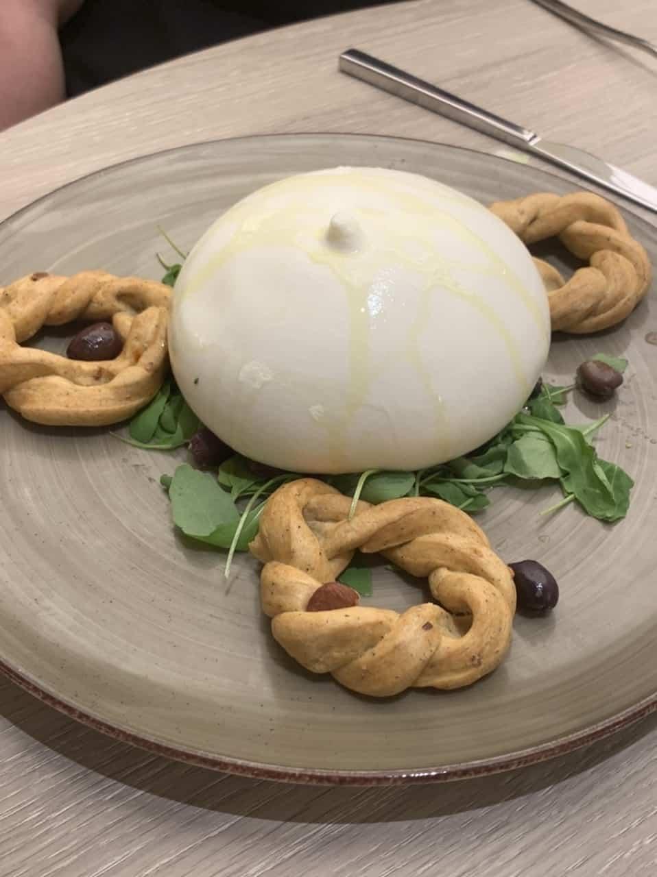 Italian burrata costa smeralda