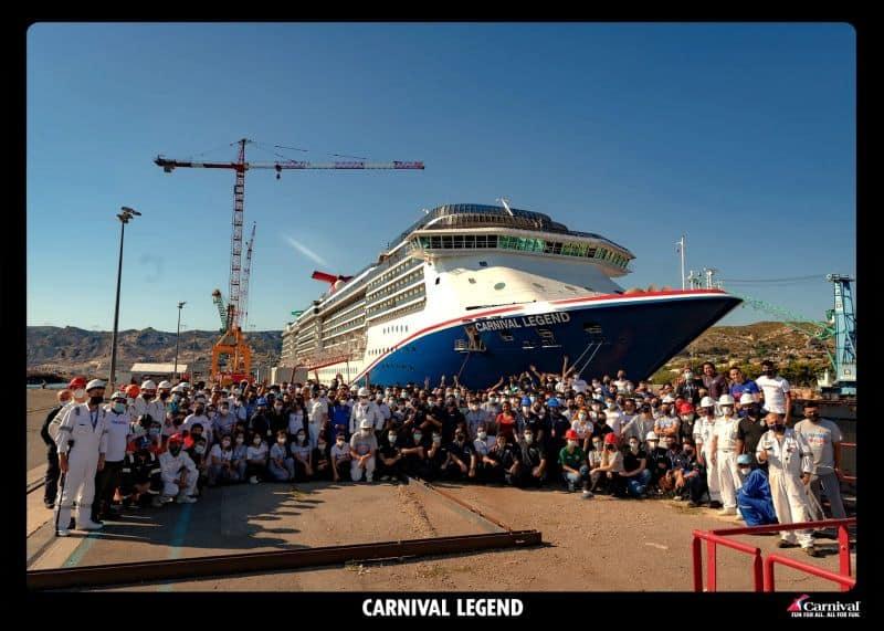 Carnival Legend dry dock France