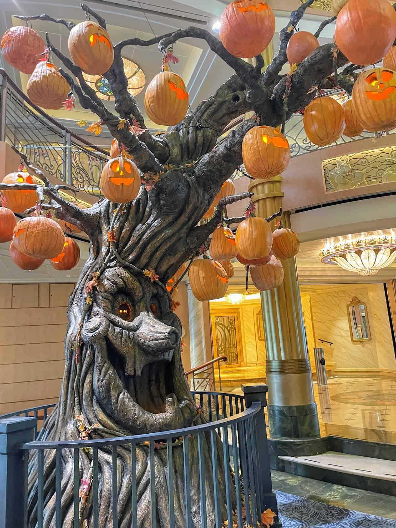 disney fantasy pumpkin tree halloween
