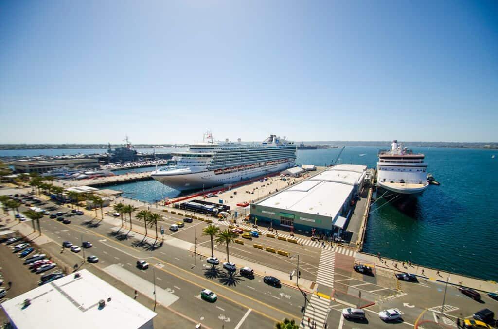 port of san diego california multiple ships