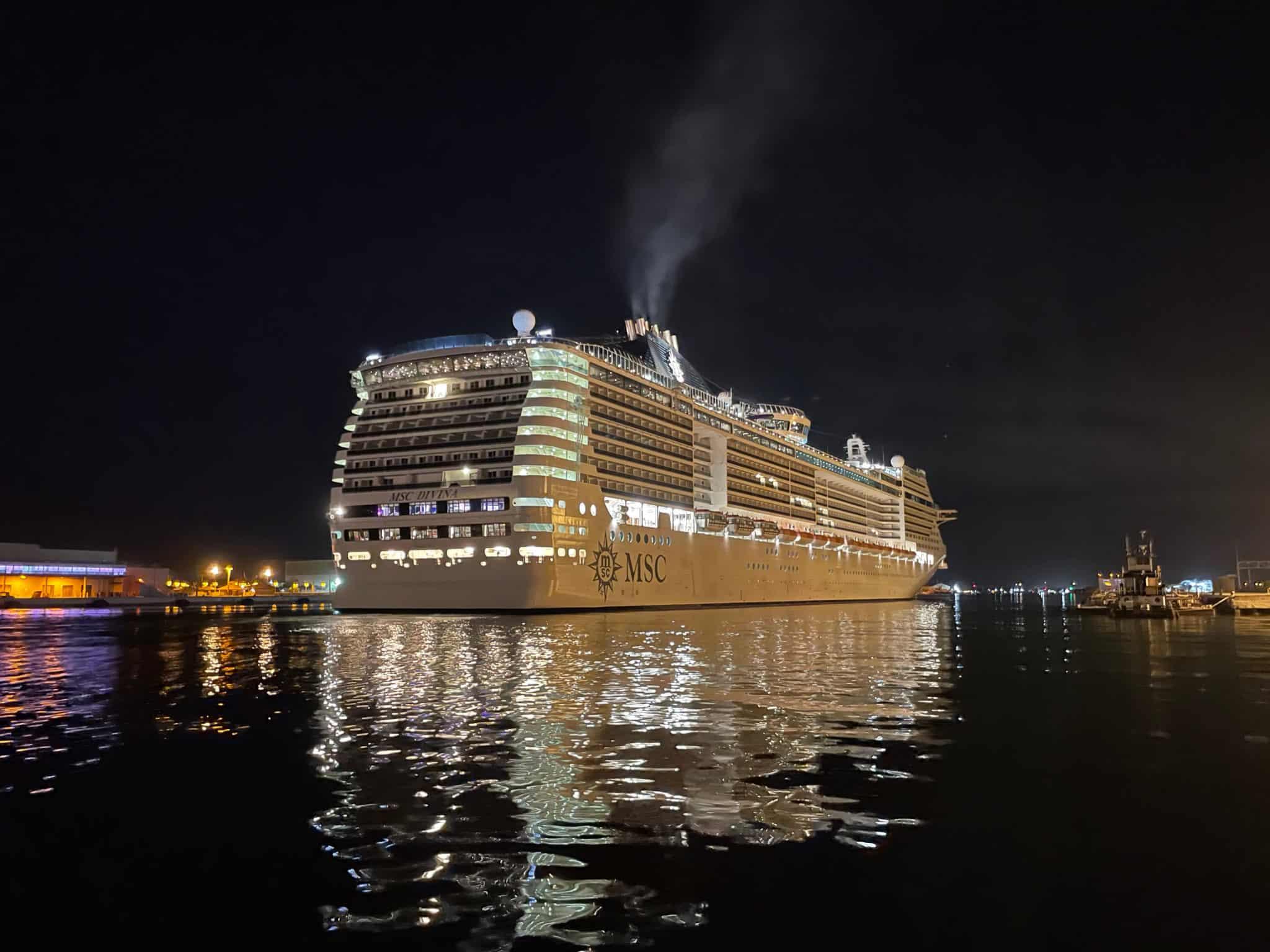 msc divina departs port canaveral on september 16