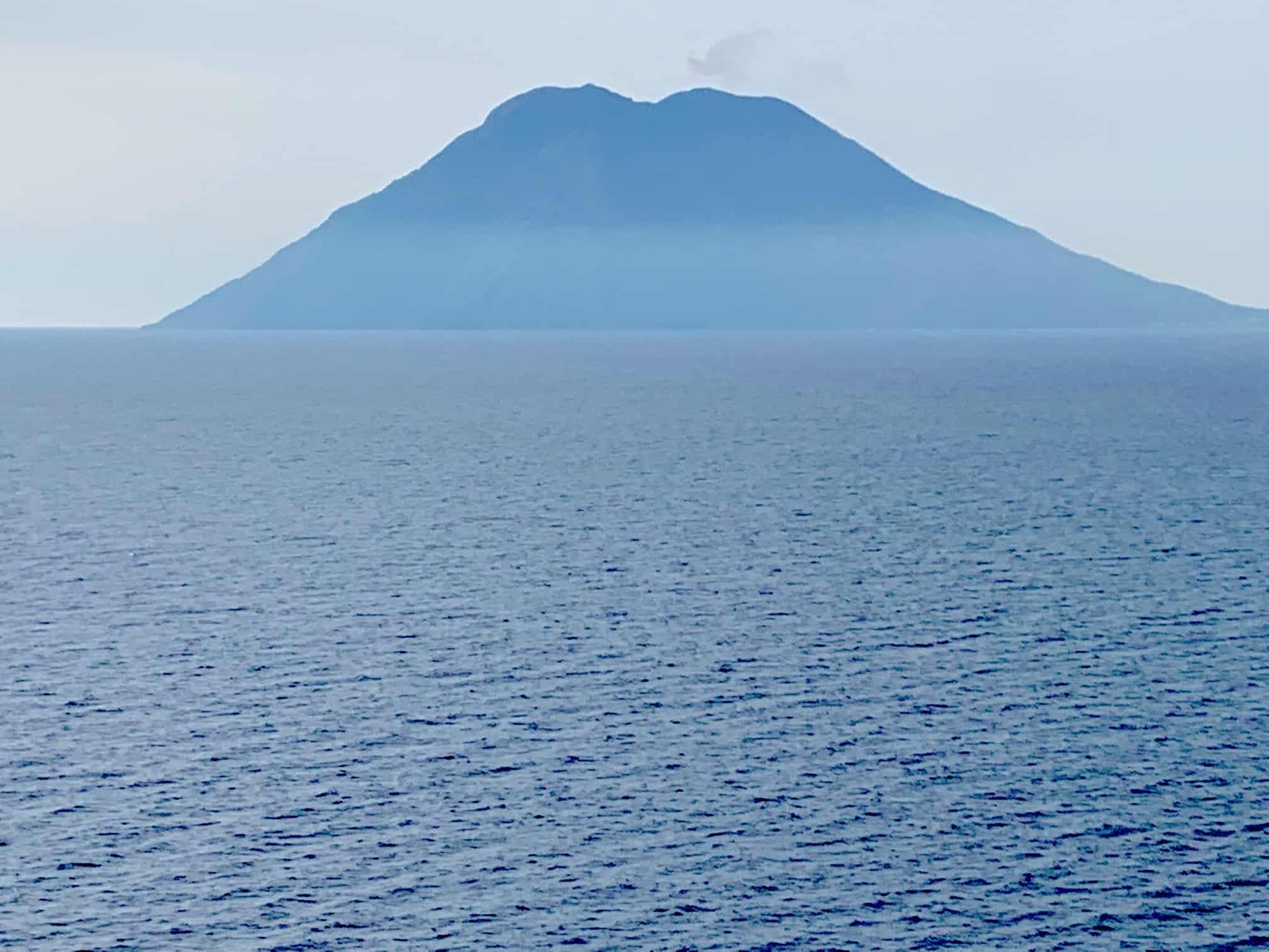 The volcano on Stromboli