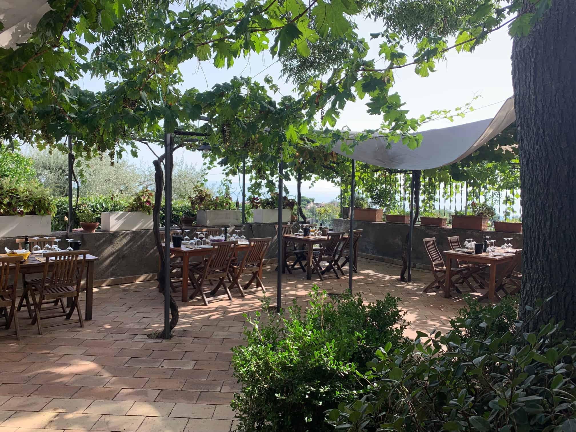 The tasting terrace at San Michel Estate.