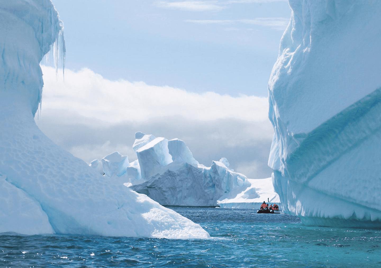 Zodiac expedition cruise exploring Crystal Sound