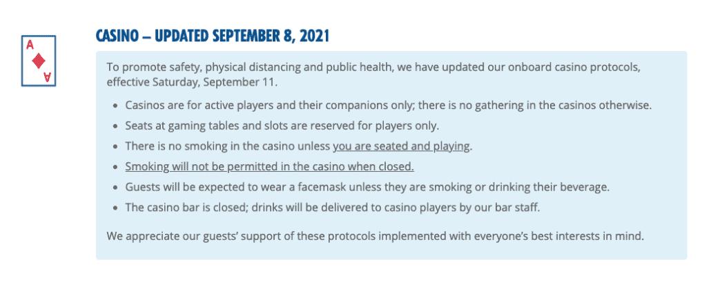 Carnival casino policy smoking