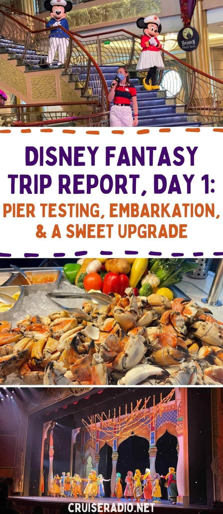 disney fantasy trip report, day 1